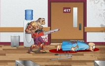 Killing-in-a-hospital-with-a-chainsaw-and-a-zombie-zombie-warrior-man