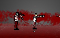 Shooting-game-with-zombies-hungry
